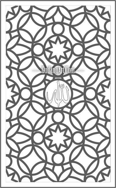 Desain Teralis - Ornamen Jendela Masjid