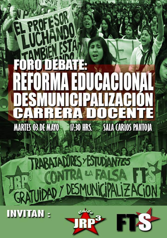 VALPARAISO: FORO DEBATE REFORMA EDUCACIONAL, DESMUNICIPALIZACION Y CARRERA DOCENTE