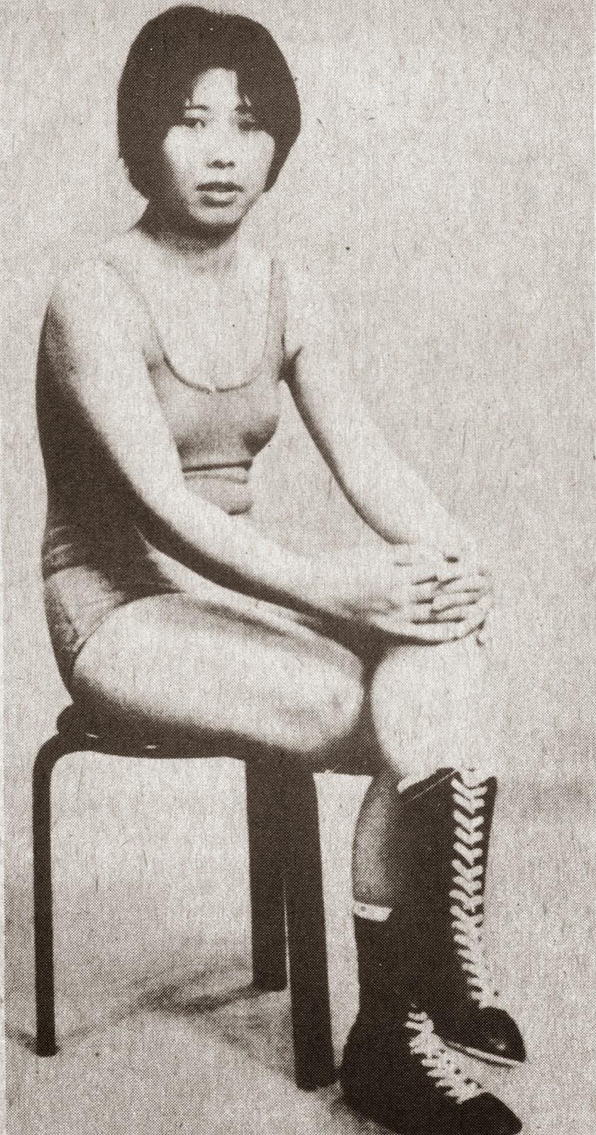 joshi+puroresu 1973 women wrestling Japanese girl wrestlers