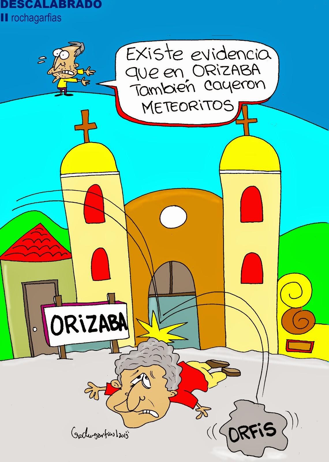 Meteoritos en Orizaba: descalabrado.
