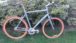 2010 orange trek district bicycle with chain drive