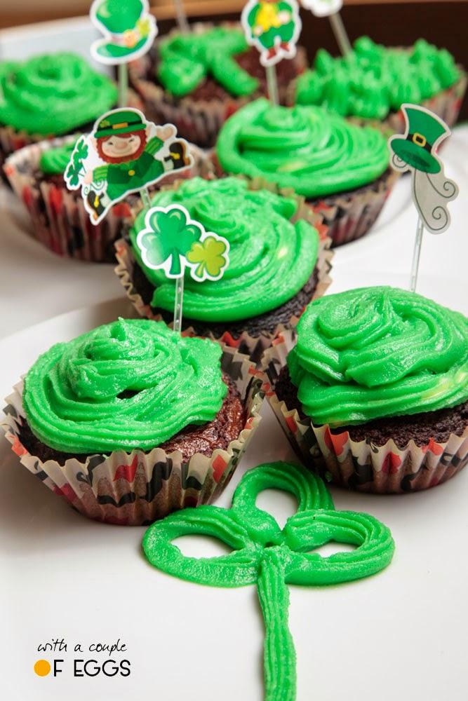 cupcakes san patricio