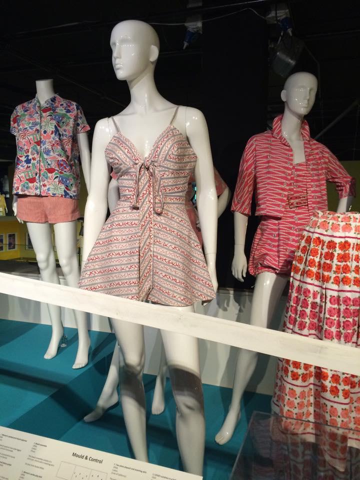 pink cotton playsuit, fashion blogger, vintage retro beachwear