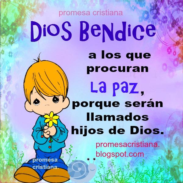 Promesa cristiana de paz con Dios, paz contigo mismo y con los demás. Frases de la paz en reflexión corta. Promesas bíblicas, versículo.