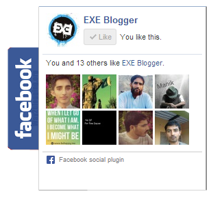Add Facebook Sliding Like Box with JQuery to Blogger