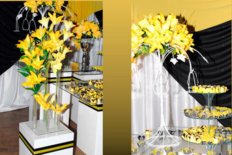 decoracao amarelo branco e preto: mas eu acho que seria uma bela economia e ficou um charme não acham