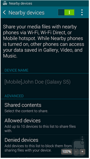 Samsung Galaxy Become servers share a media file 2