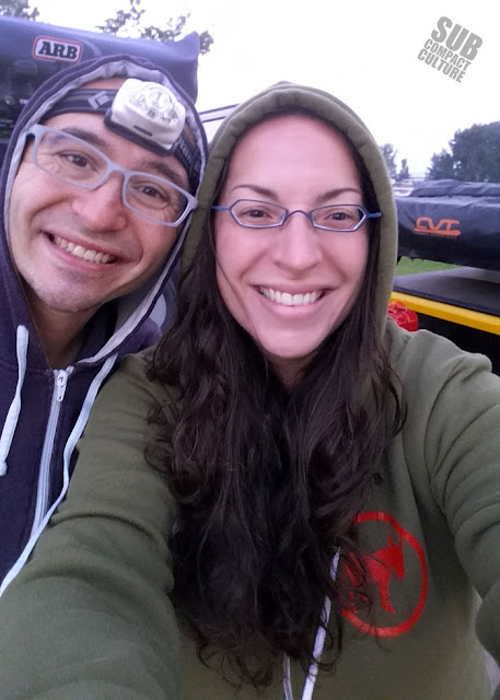 Andy and Mercedes camping