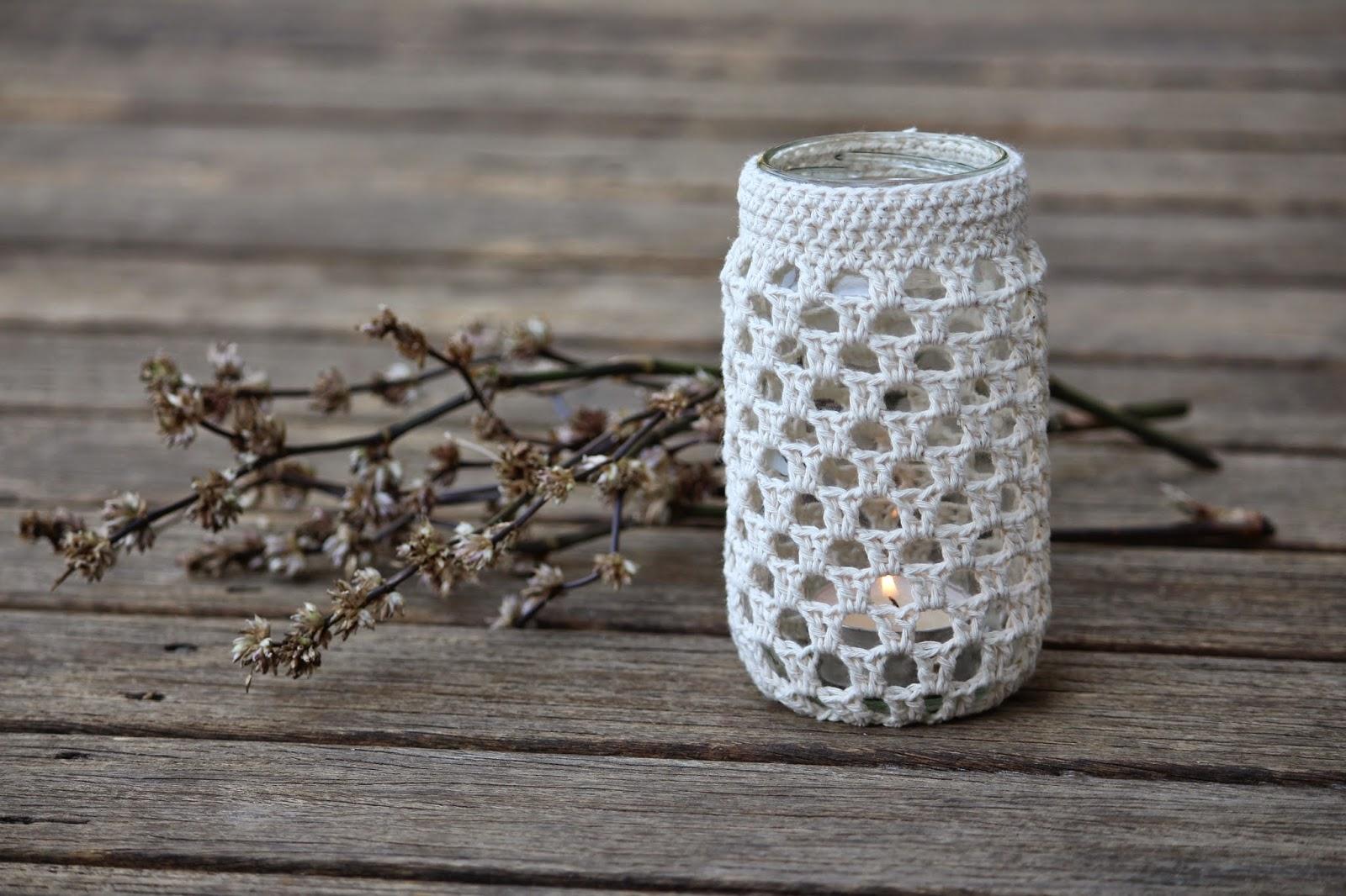 Edward And Lilly Crochet Jar Cosy Pattern