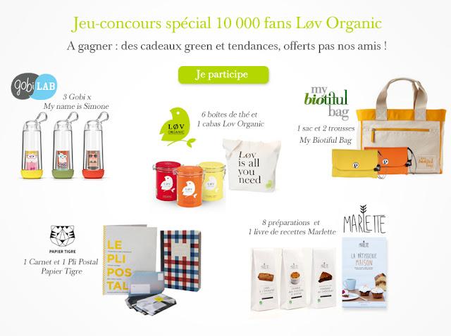 Jeu concours spécial 10000 fans Lov Organic