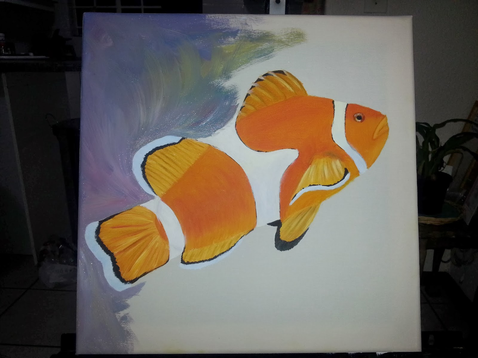 How to paint a clown fish 5