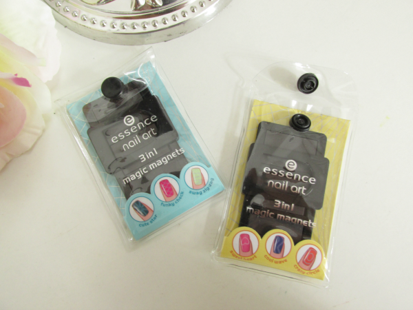 essence nail art magnets 01 keep it secret (gelb), 02 it´s abracadabra (blau) Neuheiten Herbst 2014