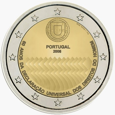 2 euro Portugal 2008, Universal Declaration of Human Rights