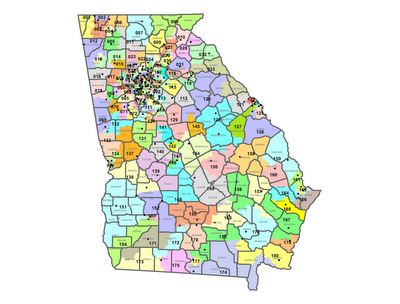 Georgia City And County Map Map of Georgia Counties And