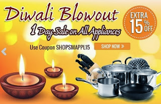 Flat 15% additional off on Home & Kitchen Appliances at HomeShop18 (Offer Valid for Today Only)