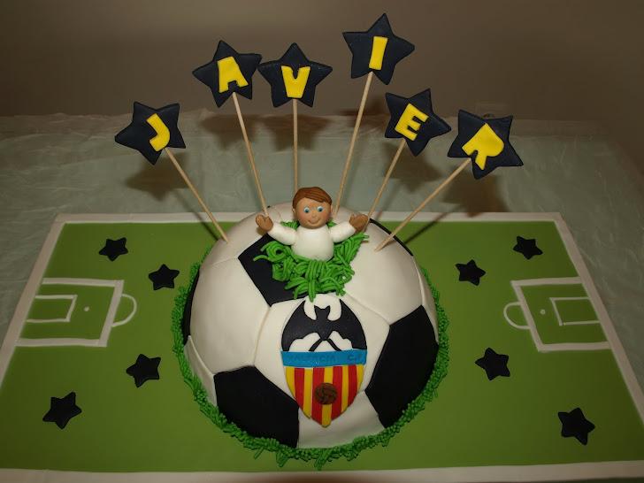 Tarta Balón  y del Valencia