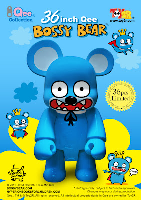 "Toy2R - David Horvath 36"" Bossy Bear Qee"