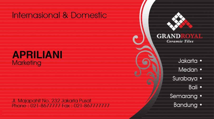 contoh kartu nama elegant 04 contoh desain kartu nama diposkan oleh
