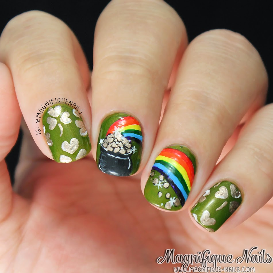 Magically Polished |Nail Art Blog|: Pot of Gold (St. Patrick\'s Day ...