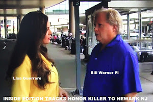 VIDEO: Inside Edition & P I Bill Warner Track Murder Suspet to Newark Airport