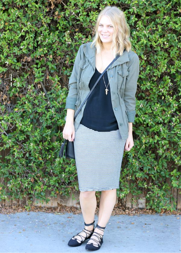 Shae Roderick, outfit, look, fall, stripes