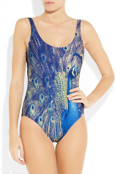 We Are Handsome The Showman Peacock Printed Swimsuit