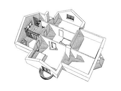 Architekt Rzeszów. Dom jednorodzinny, wizualizacja poddasza, SPA, garderoba.