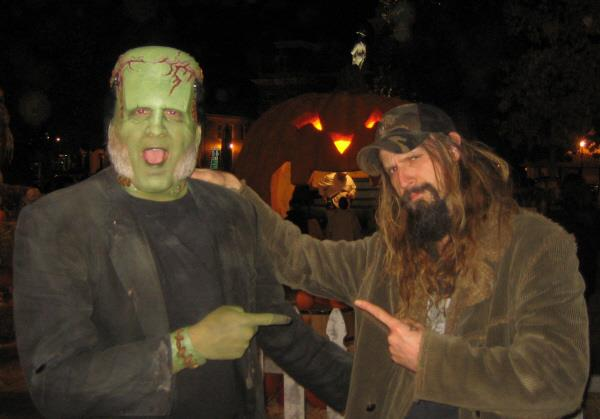As the Frankentien Monster with Rob Zombie