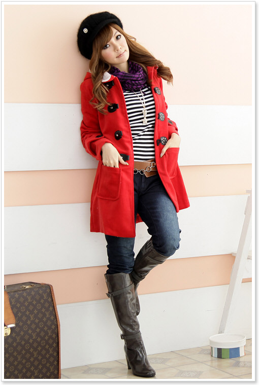 Jacket + Fit-Cutting Blouse + Scarf + Skinny Jeans + Boots