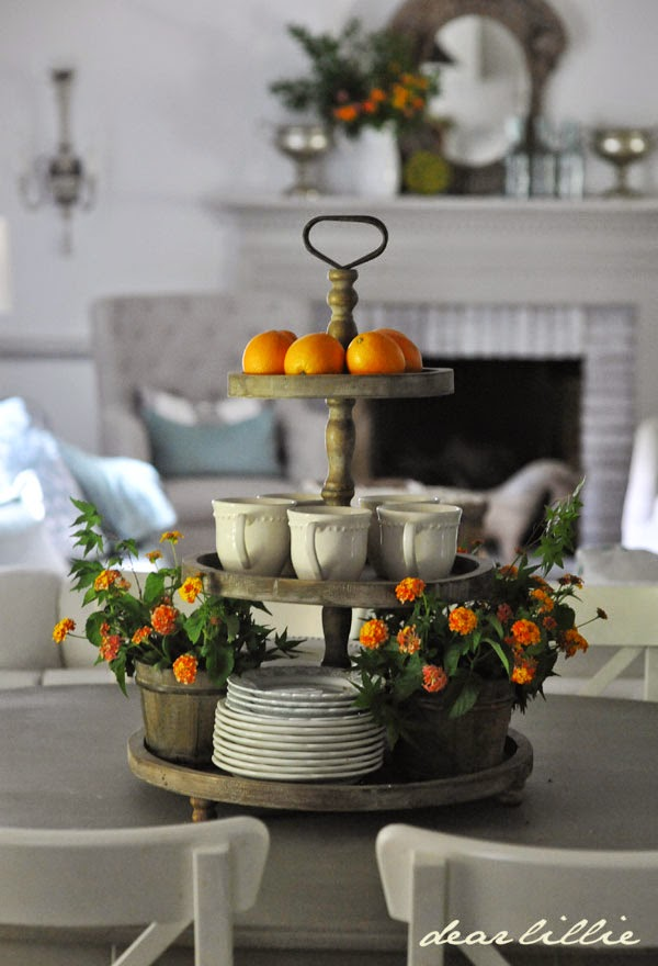Tiered trays on pinterest tiered stand galvanized metal and 3 tier stand - Kitchen counter decoration ...