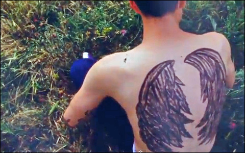 4 Angel wing tattoos