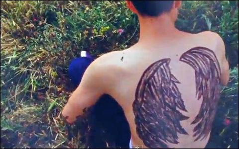 4 Angel wing tattoos