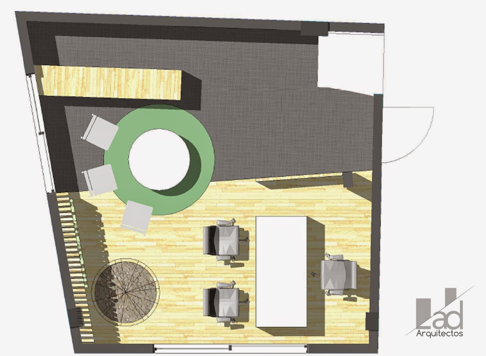 Arquitectura y dise o lad arquitectos oficina madereria for Arquitectura y diseno las palmas