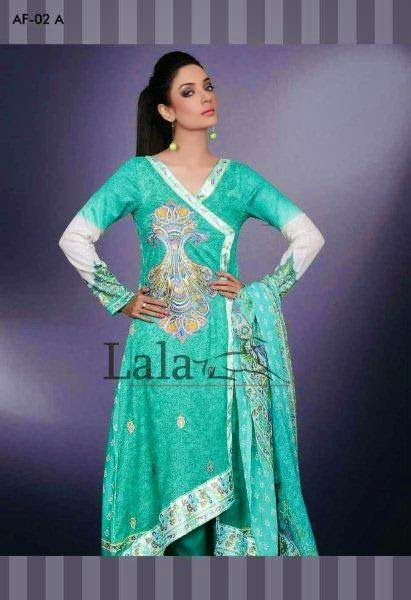 Lala Textile Arfeen embroidered Lawn 2015