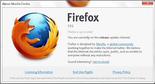 Mozilla Firefox 7.0.1