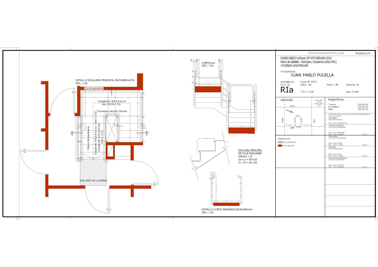 Direccion y legislacion de obra plano municipal plano for Escaleras en planta