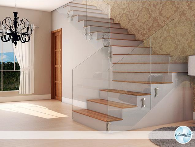 Minha Casa Clean 30 Salas Decoradas com Escadas Encostadas na Parede