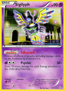 Sigilyph Dragons Exalted Pokemon Card
