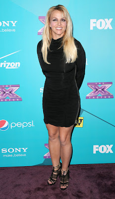 Britney Spears The X Factor Finalist Party Black Dress