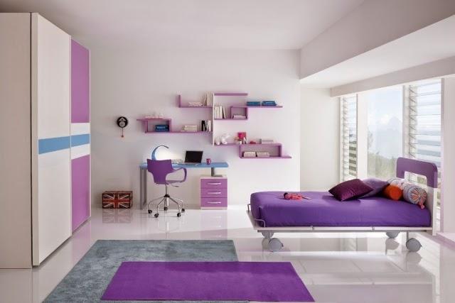 Cuartos de ni as en colores morados dormitorios colores - Habitaciones juveniles ninas ...