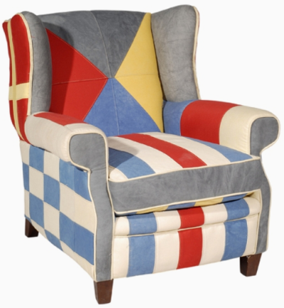 nautical wing chair