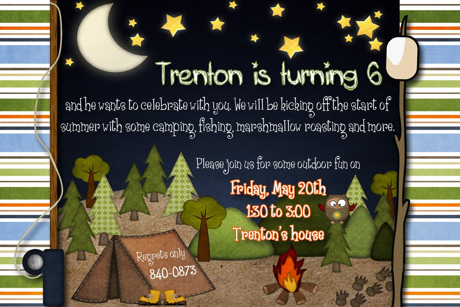 Camping Birthday Invitations Free for great invitations ideas