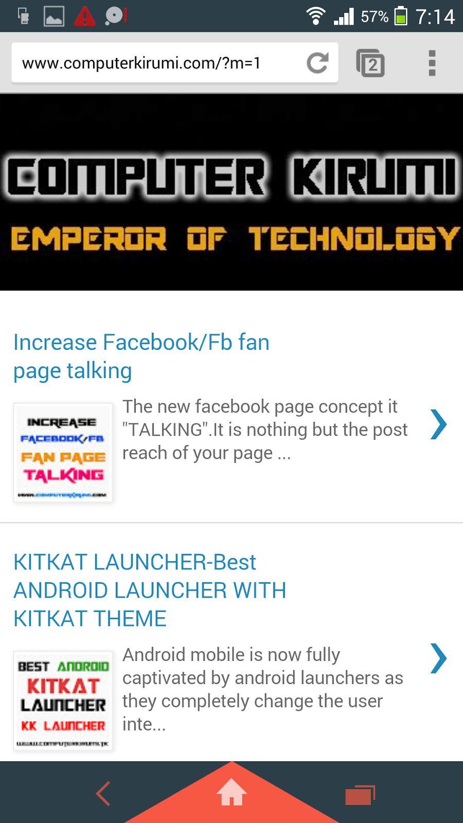 chrome computer kirumi home page