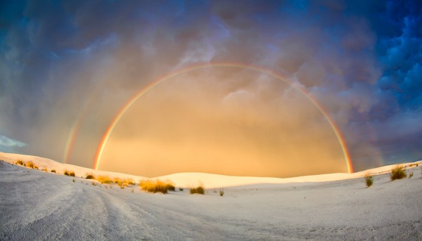 Double Rainbow at White Sands National Monument.