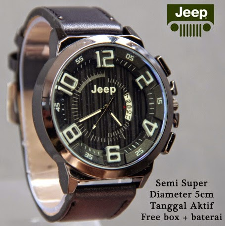 Jeep Date Leather hitam