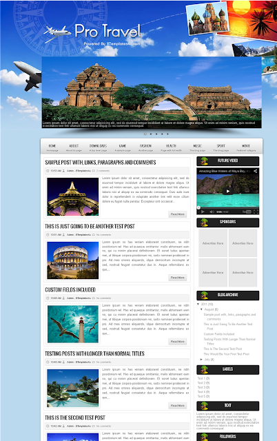 Contoh Desain Web Travel
