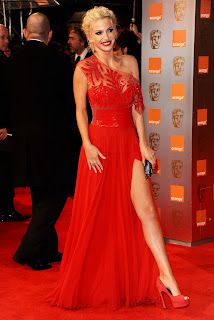 Sarah Harding at the Baftas