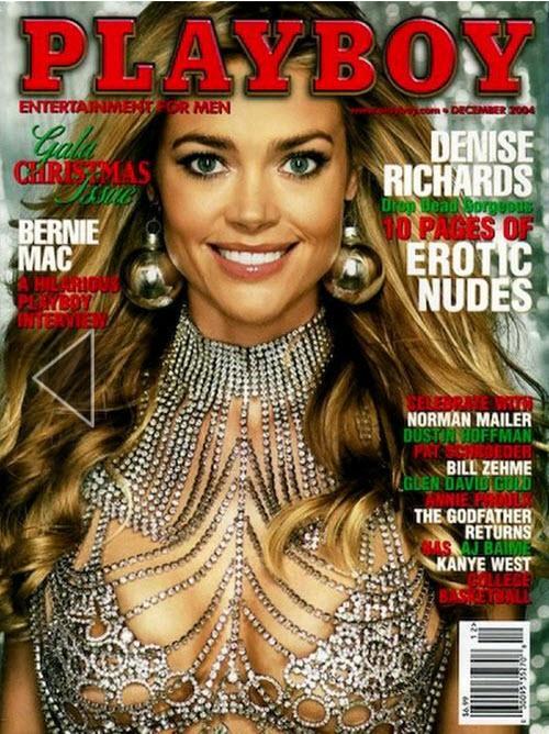Las tapas de Playboy para navidad según pasan los años