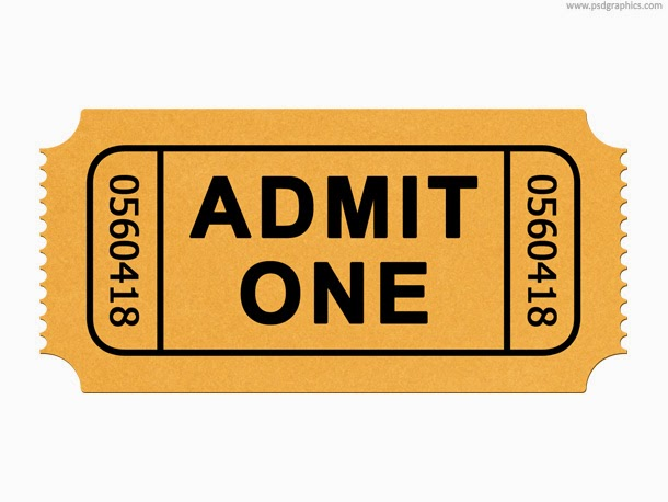 Admission Ticket PSD