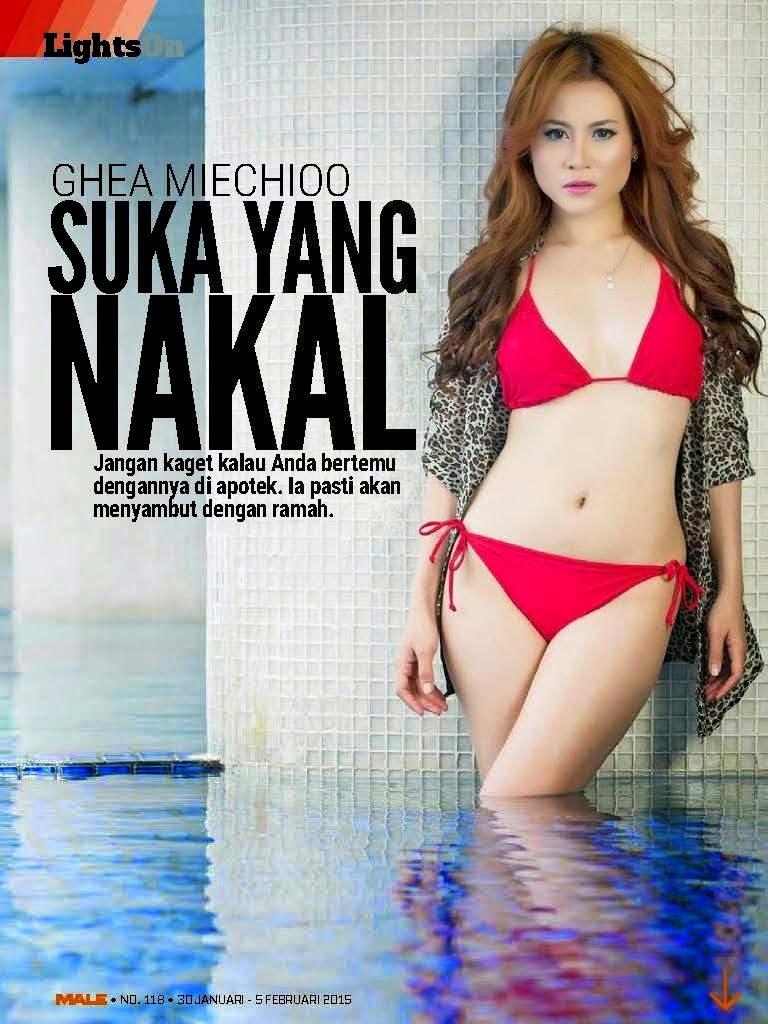 Ghea Miehcioo di Lights On Majalah Male Januari-Februari 2015